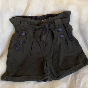 Anthropologie Linen Paper bag shorts